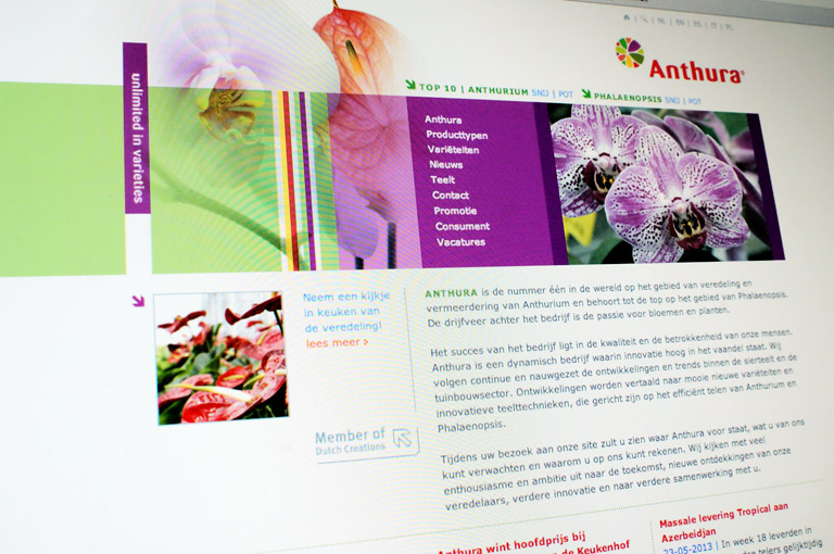 Anthura website ontwerp en CMS