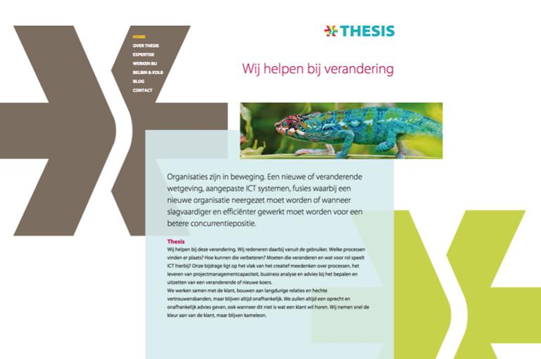 Webdesign voor Thesis