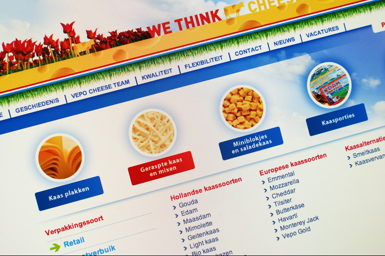 Vepo Cheese website ontwerp en CMS
