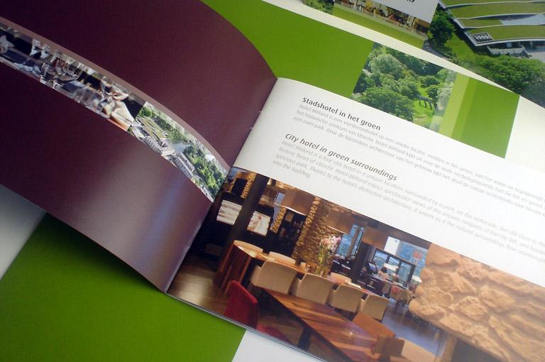 Hotel Mitland brochure, map en poster